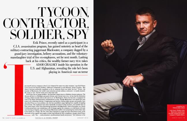 Article Preview: TYCOON, CONTRACTOR, SOLDIER, SPY, January 2010 | Vanity Fair