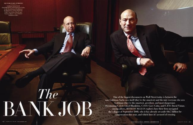 Article Preview: The BANK JOB, January 2010 | Vanity Fair