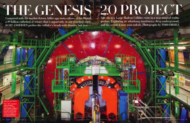 Article Preview: THE GENESIS 2.0 PROJECT, January 2010 | Vanity Fair