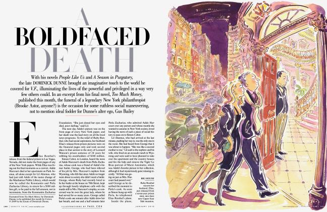 Article Preview: A BOLD FACED DEATH, January 2010 | Vanity Fair
