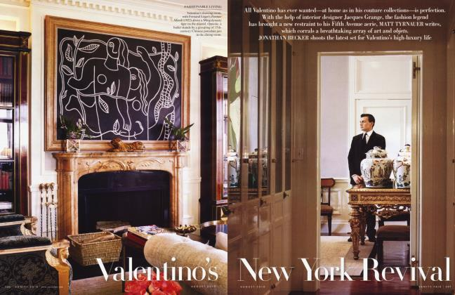 Article Preview: Valentino's New York Revival, August 2010 2010 | Vanity Fair