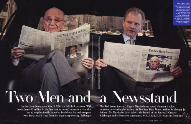 Article Preview: Two Men and a Newsstand, October 2010 2010 | Vanity Fair