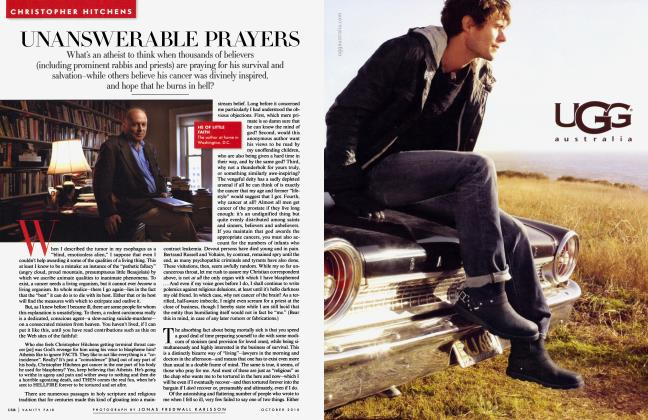 Article Preview: UNANSWERABLE PRAYERS, October 2010 2010 | Vanity Fair