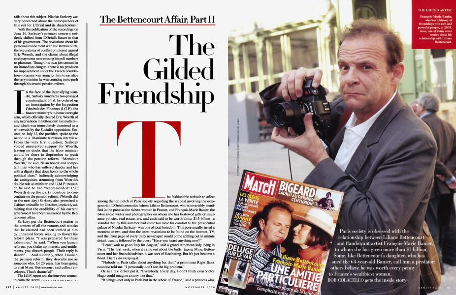 The Bettencourt Affair, Part II: The Gilded Friendship