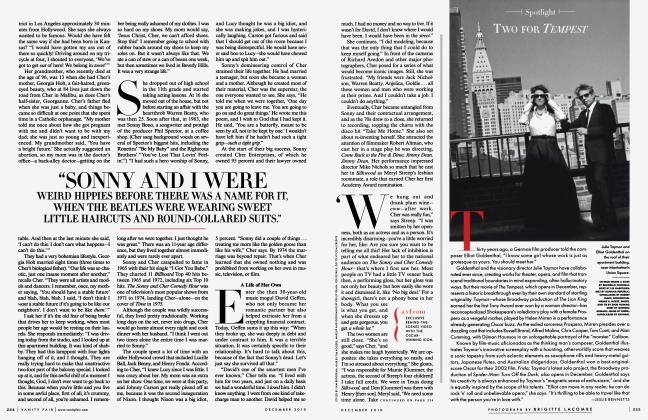Article Preview: TWO FOR TEMPEST, December 2010 2010 | Vanity Fair