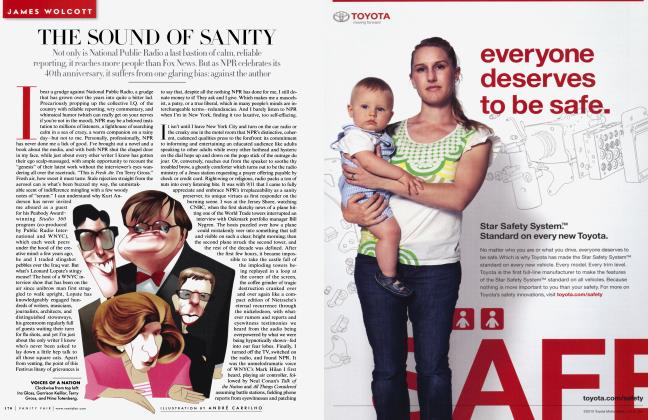 Article Preview: THE SOUND OF SANITY, December 2010 2010   Vanity Fair