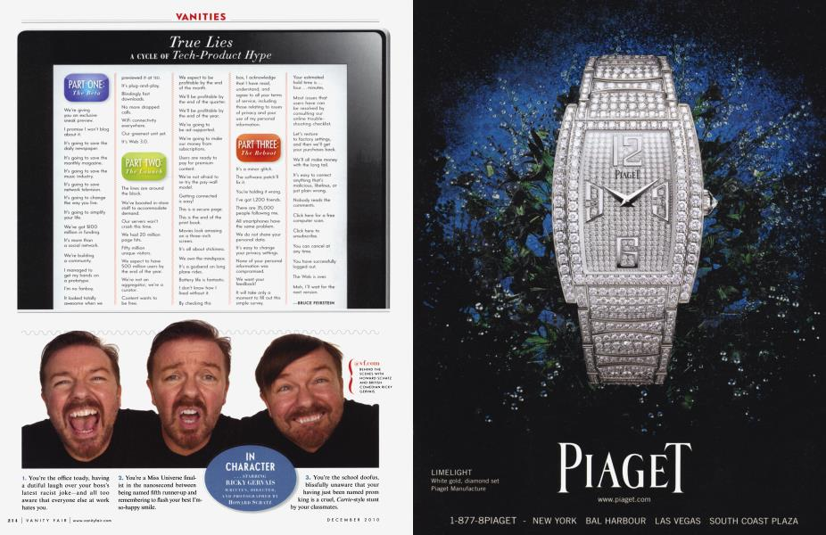 IN CHARACTER ...STARRING RICKY GERVAIS
