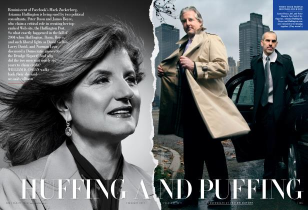 Article Preview: HUFFING AND PUFFING, February 2011 | Vanity Fair