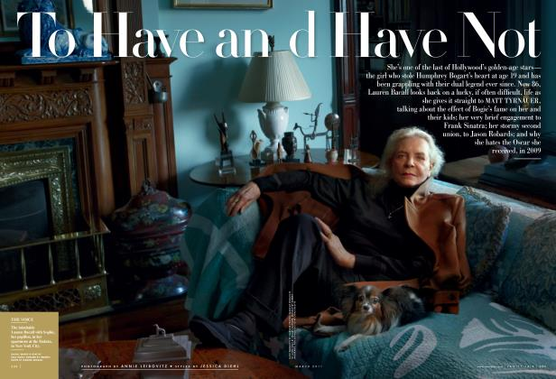 Article Preview: To Have and Have Not, March 2011 | Vanity Fair