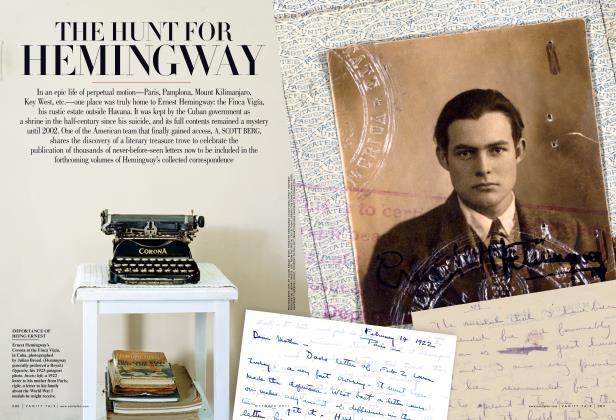 Article Preview: THE HUNT FOR HEMINGWAY, October 2011 | Vanity Fair