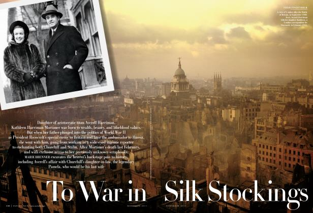 Article Preview: To War in Silk Stockings, November 2011 2011 | Vanity Fair