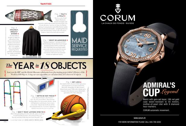 Article Preview: The YEAR in 18 OBJECTS, December 2011 2011 | Vanity Fair