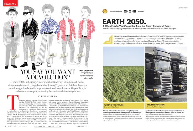 Article Preview: YOU SAY YOU WANT A DEVOLUTION?, January 2012 | Vanity Fair