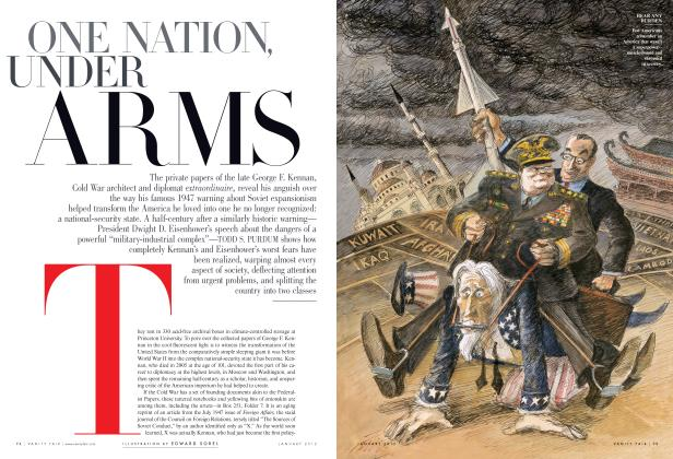 Article Preview: ONE NATION, UNDER ARMS, January 2012 | Vanity Fair