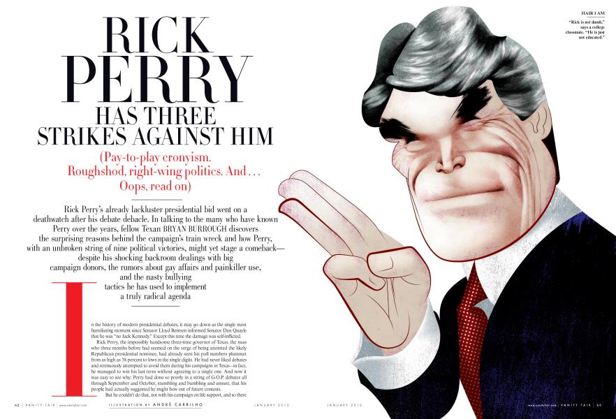 RICK PERRY HAS THREE STRIKES AGAINST HIM