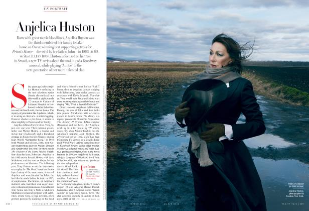 Article Preview: Anjelica Huston, March 2012 2012 | Vanity Fair