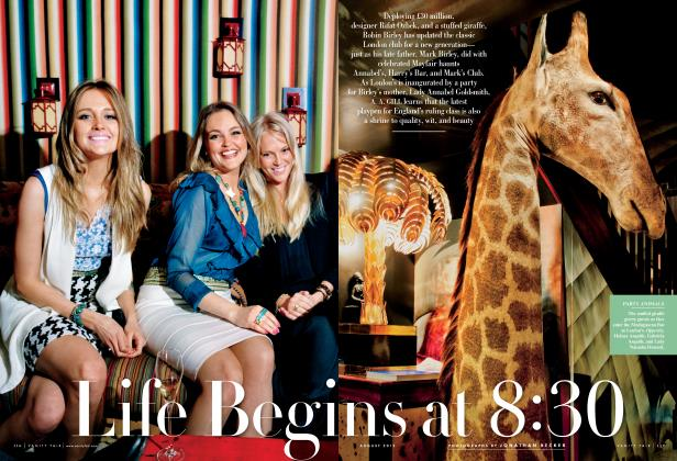 Article Preview: Life Begins At 8:30, August 2012 2012 | Vanity Fair