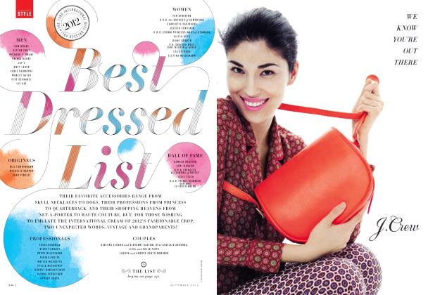 Article Preview: Best Dressed List, September 2012 | Vanity Fair