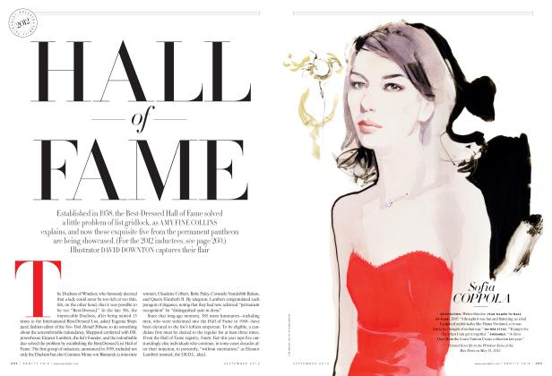 Article Preview: HALL OF FAME, September 2012 2012 | Vanity Fair