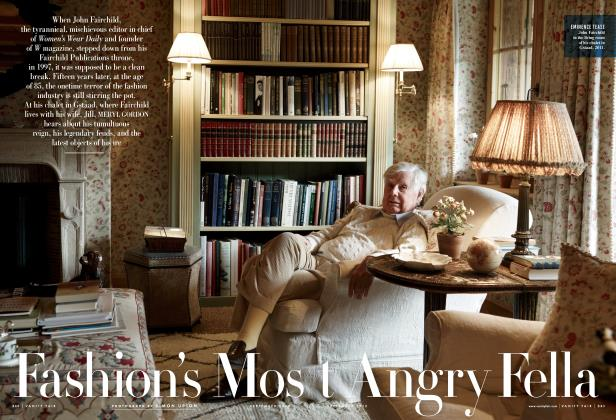 Article Preview: Fashion's Most Angry Fella, September 2012 | Vanity Fair