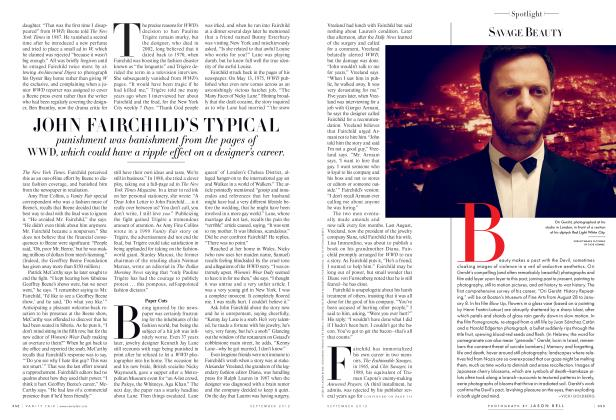 Article Preview: SAVAGE BEAUTY, September 2012 2012 | Vanity Fair