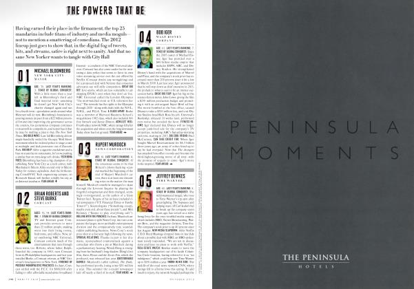 Article Preview: THE POWERS THAT BE, October 2012 2012 | Vanity Fair