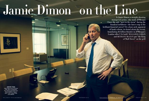 Article Preview: Jamie Dimon on the Line, November 2012 2012 | Vanity Fair