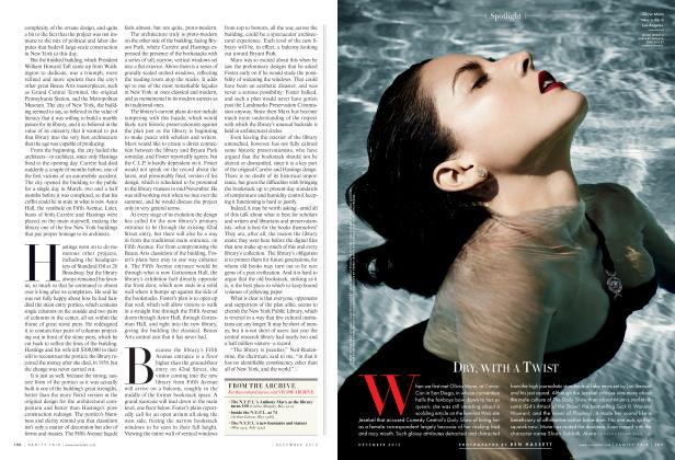 Article Preview: DRY, WITH A TWIST, December 2012 2012 | Vanity Fair