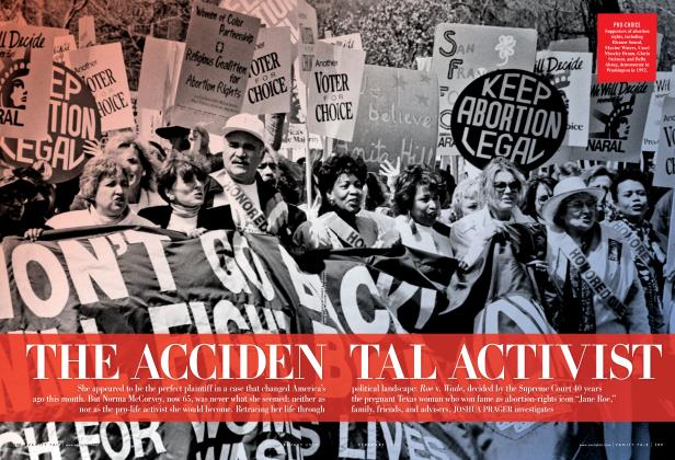 Article Preview: THE ACCIDENTAL ACTIVIST, February 2013 | Vanity Fair