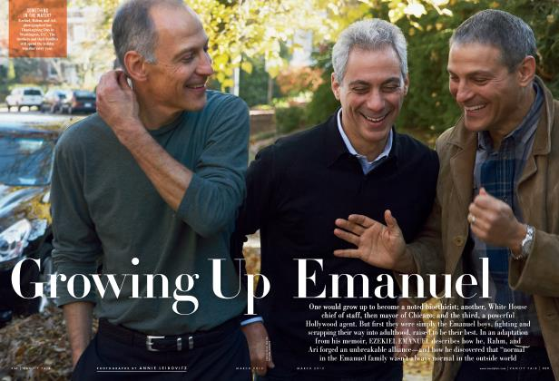 Article Preview: Growing Up Emanuel, March 2013   Vanity Fair