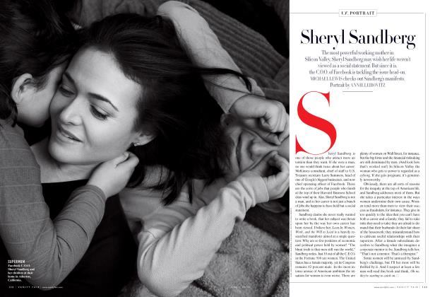 Article Preview: Sheryl Sandberg, April 2013 2013 | Vanity Fair