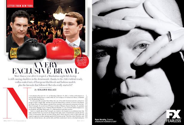 Article Preview: A VERY EXCLUSIVE BRAWL, May 2013 2013 | Vanity Fair