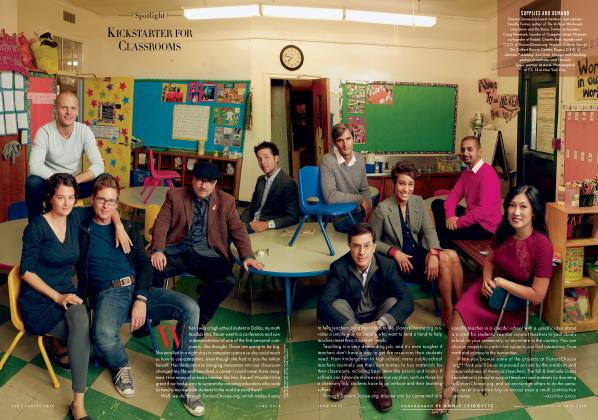 Article Preview: KICKSTARTER FOR CLASSROOMS, June 2013 2013 | Vanity Fair