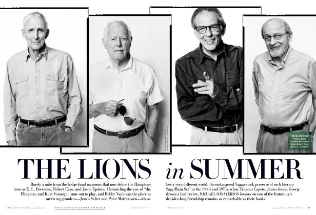 Article Preview: THE LIONS in SUMMER, August 2013 | Vanity Fair