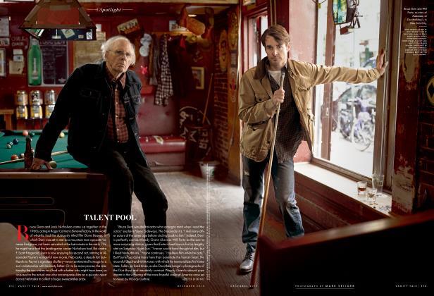 Article Preview: TALENT POOL, December 2013 2013   Vanity Fair