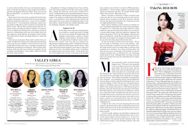 Article Preview: TAKING HER BOW, January 2014 2014 | Vanity Fair
