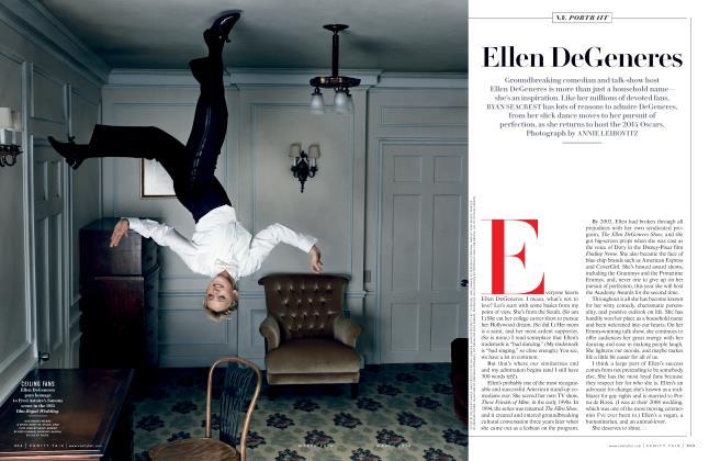 Article Preview: Ellen DeGeneres, March 2014 2014 | Vanity Fair