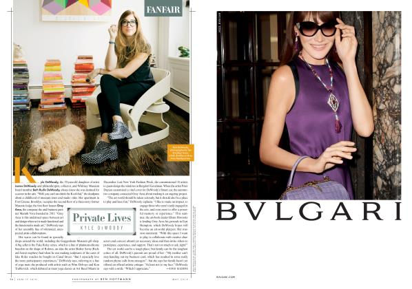 Article Preview: Private Lives KYLE DEWOODY, May 2014 2014 | Vanity Fair