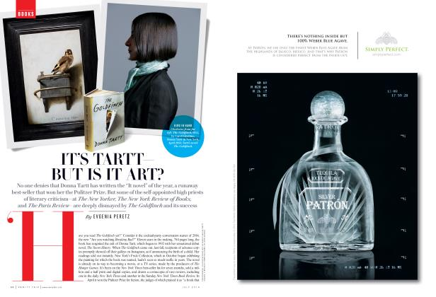 Article Preview: IT'S TARTT— BUT IS IT ART?, July 2014 | Vanity Fair