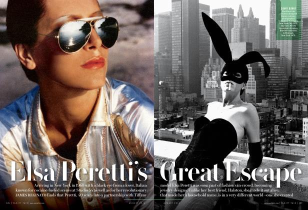 Article Preview: Elsa Peretti's Great Escape, August 2014 2014 | Vanity Fair