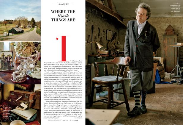 Article Preview: WHERE THE Wyeth THINGS ARE, August 2014 2014 | Vanity Fair