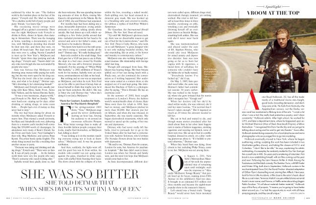 Article Preview: VROOM AT THE TOP, September 2014 2014 | Vanity Fair