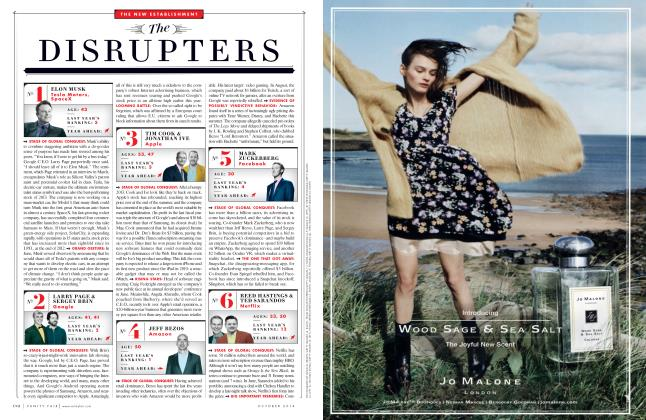 Article Preview: The DISRUPTERS, October 2014 | Vanity Fair