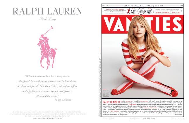 Article Preview: HALEY BENNETT, October 2014 2014 | Vanity Fair