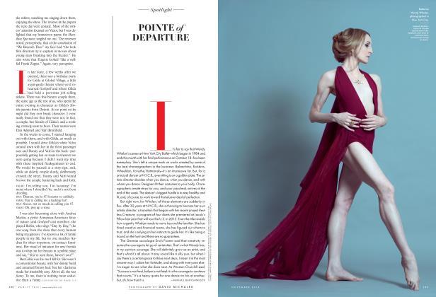 Article Preview: POINTE of DEPARTURE, November 2014 2014 | Vanity Fair