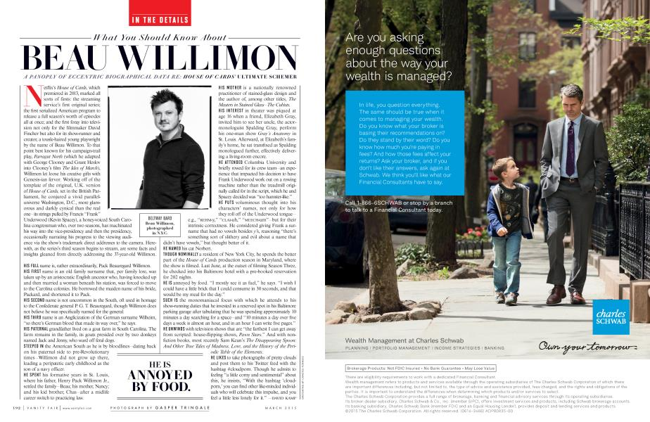 What You Should Know About BEAU WILLIMON