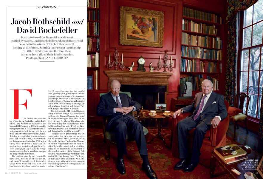 Jacob Rothschild and David Rockefeller