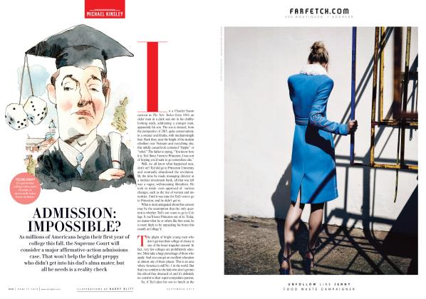 Article Preview: ADMISSION: IMPOSSIBLE?, September 2015 2015 | Vanity Fair