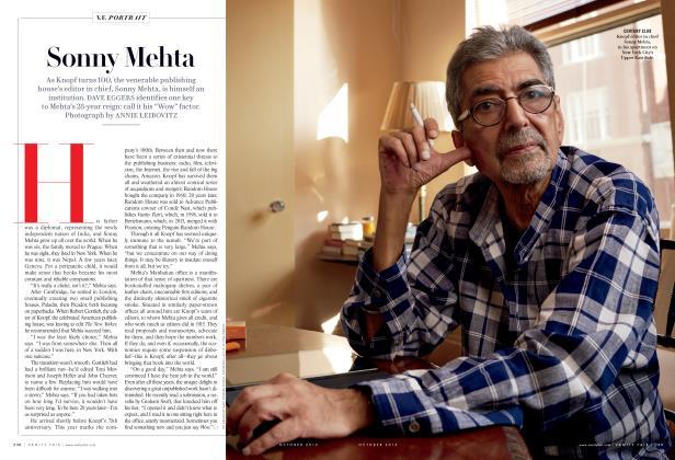 Article Preview: Sonny Mehta, October 2015 2015 | Vanity Fair