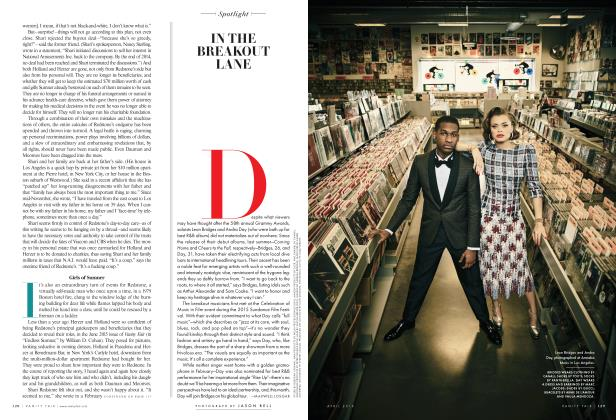Article Preview: IN THE BREAKOUT LANE, April 2016 2016 | Vanity Fair